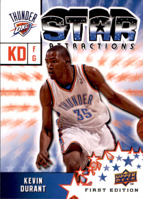 Kevin Durant, Star Attractions, 2009-10 UD First Edition Basketball NBA