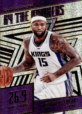 DeMarcus Cousins, By the Numbers, 2016-17 Panini Revolution Basketball
