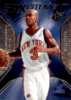Stephon Marbury, SPXcitement, 2006-07 UD SPx Basketball NBA