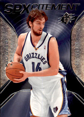 Pau Gasol, SPXcitement, 2006-07 UD SPx Basketball NBA
