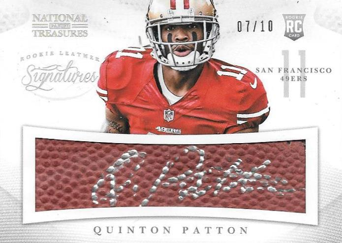 Quinton Pattton, Rookie Leather Signatures, 2013 Panini National Treasures NFL