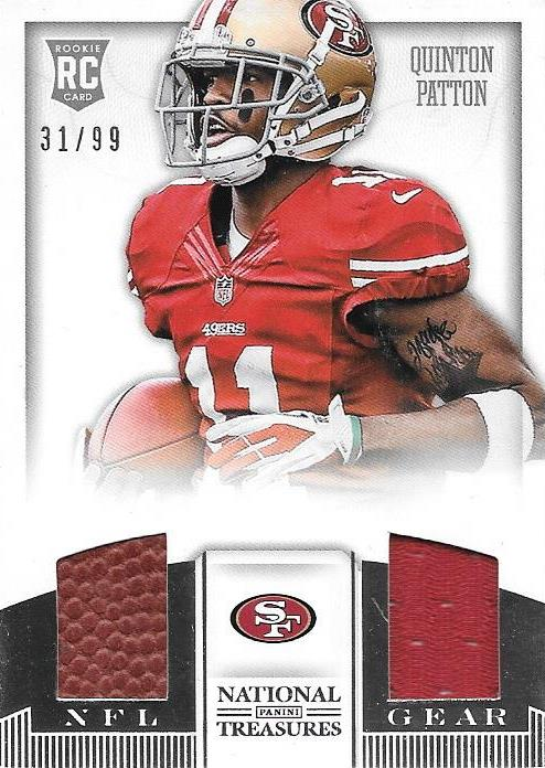 Quinton Pattton, NFL Gear, 2013 Panini National Treasures