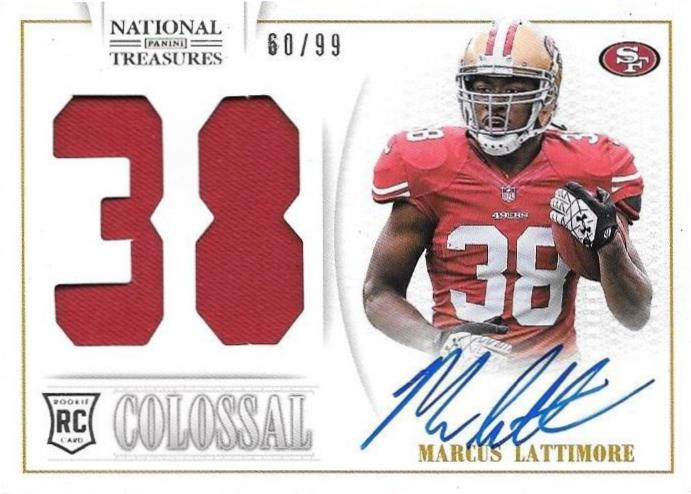 Marcus Lattimore, Colossal Signature, 2013 Panini National Treasures NFL