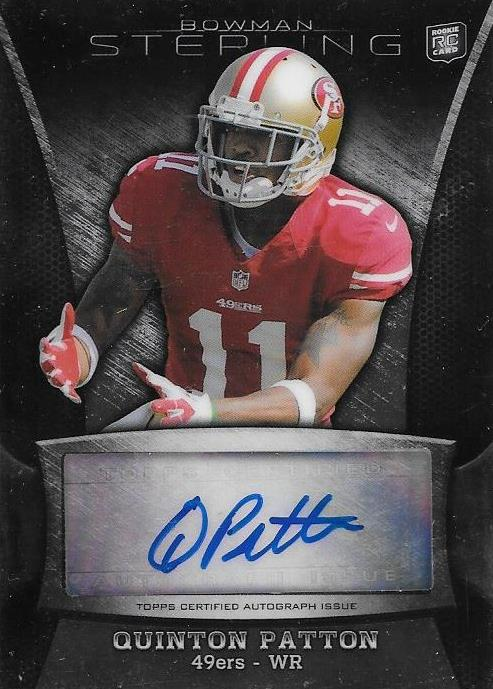 Quinton Patton, Signature, 2013 Bowman Sterling NFL