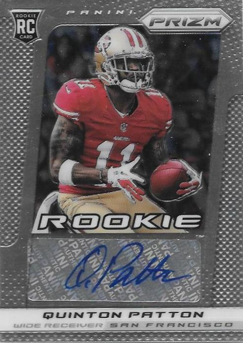 Quinton Patton, RC Signature, 2013 Panini Prizm NFL