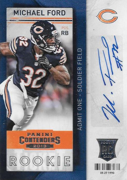 Michael Ford, Rookie Ticket Autograph, 2013 Panini Contenders NFL