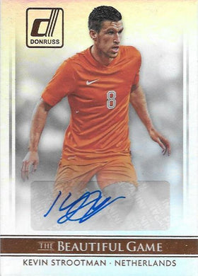 Kevin Strootman, The Beautiful Game Signature card, 2015 Donruss Soccer