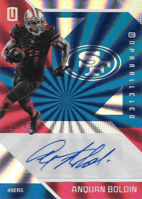 Anquan Boldin, Signature, 2016 Panini NFL Unparalleled Football