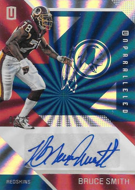 Bruce Smith, Signature, 2016 Panini NFL Unparalleled Football 1/25