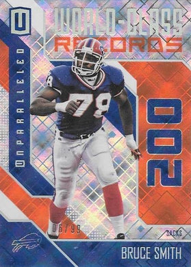 Bruce Smith, World Class, 2016 Panini NFL Unparalleled Football /99