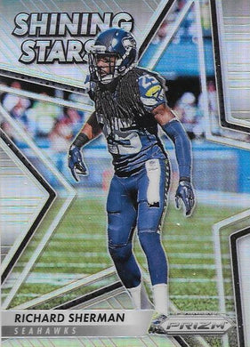 Richard Sherman, Shining Stars Refractor, 2016 Panini NFL Prizm Football