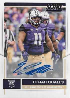 Elijah Qualls, Signature RC, 2017 Panini NFL Score Football