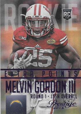 Melvin Gordon, Extra Points RC, 2015 Panini NFL Prestige Football