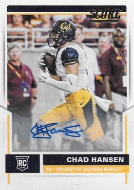 Chad Hansen, Signature RC, 2017 Panini NFL Score Football