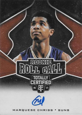 Marquese Chriss, Rookie Roll Call Signature, 2016-17 Panini NBA Totally Certified