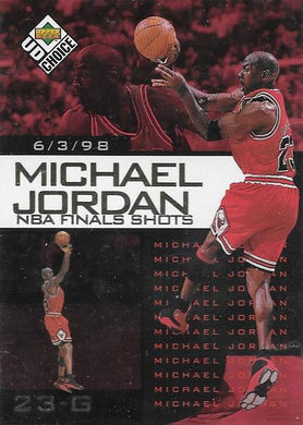 Michael Jordan, NBA Finals Choice #1, 1997-98 UD Choice NBA