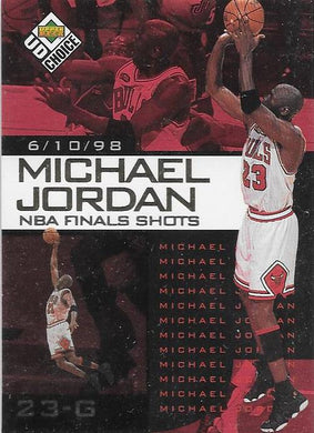 Michael Jordan, NBA Finals Choice #4, 1997-98 UD Choice NBA