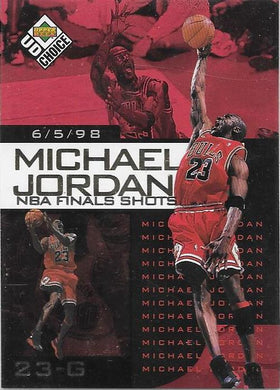 Michael Jordan, NBA Finals Choice #2, 1997-98 UD Choice NBA