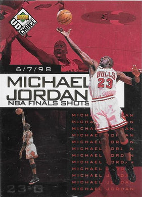 Michael Jordan, NBA Finals Choice #3, 1997-98 UD Choice NBA