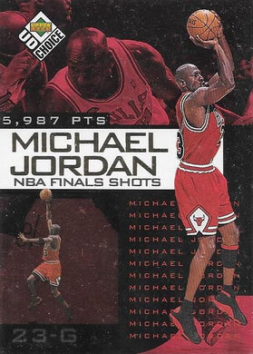 Michael Jordan, NBA Finals Choice #7, 1997-98 UD Choice NBA