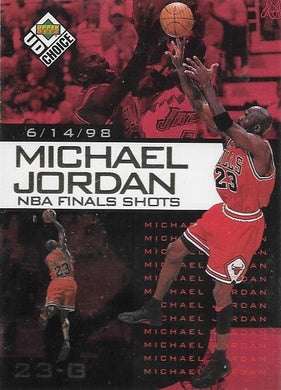 Michael Jordan, NBA Finals Choice #6, 1997-98 UD Choice NBA