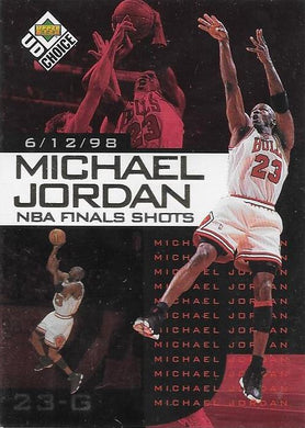 Michael Jordan, NBA Finals Choice #5, 1997-98 UD Choice NBA