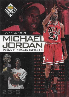 Michael Jordan, NBA Finals Choice #8, 1997-98 UD Choice NBA