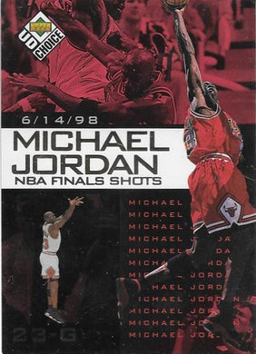 Michael Jordan, NBA Finals Choice #9, 1997-98 UD Choice NBA