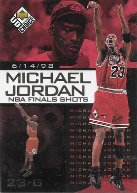 Michael Jordan, NBA Finals Choice #10, 1997-98 UD Choice NBA