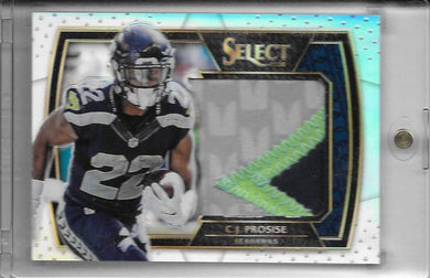 C.J. Prosise, 3clr Patch, 2016 Panini NFL Select Football
