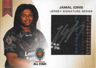 Jamal Idris, Jersey Signature Series, 2012 ESP Limited NRL