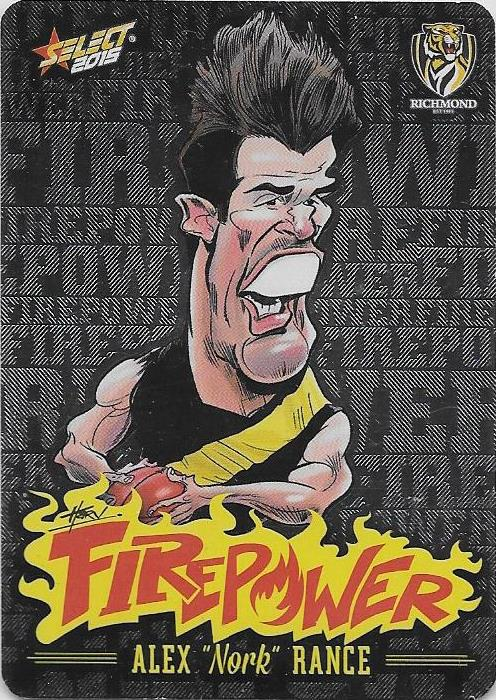 Alex Rance, Firepower Caricatures, 2015 Select AFL Champions