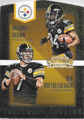 Antonio Brown, Ben Roethlisberger, Touchdown Tandems, 2015 Panini NFL Contenders