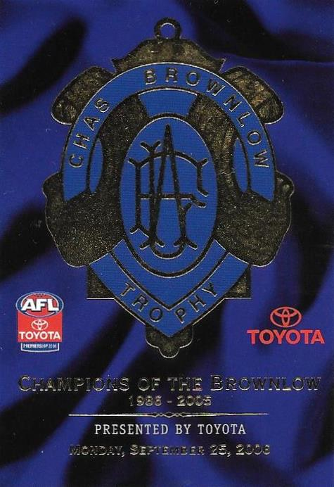 Header, 2006 Select AFL Champions of the Brownlow
