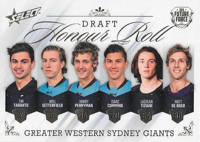 GWS Giants Draft Honour Roll, 2016 Select AFL Future Force