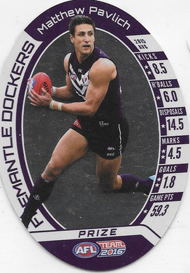 Matthew Pavlich, Prize Card, 2016 Teamcoach AFL