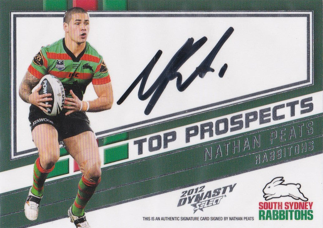 2012 Select NRL Dynasty, Top Prospects Signature, Nathan Peats