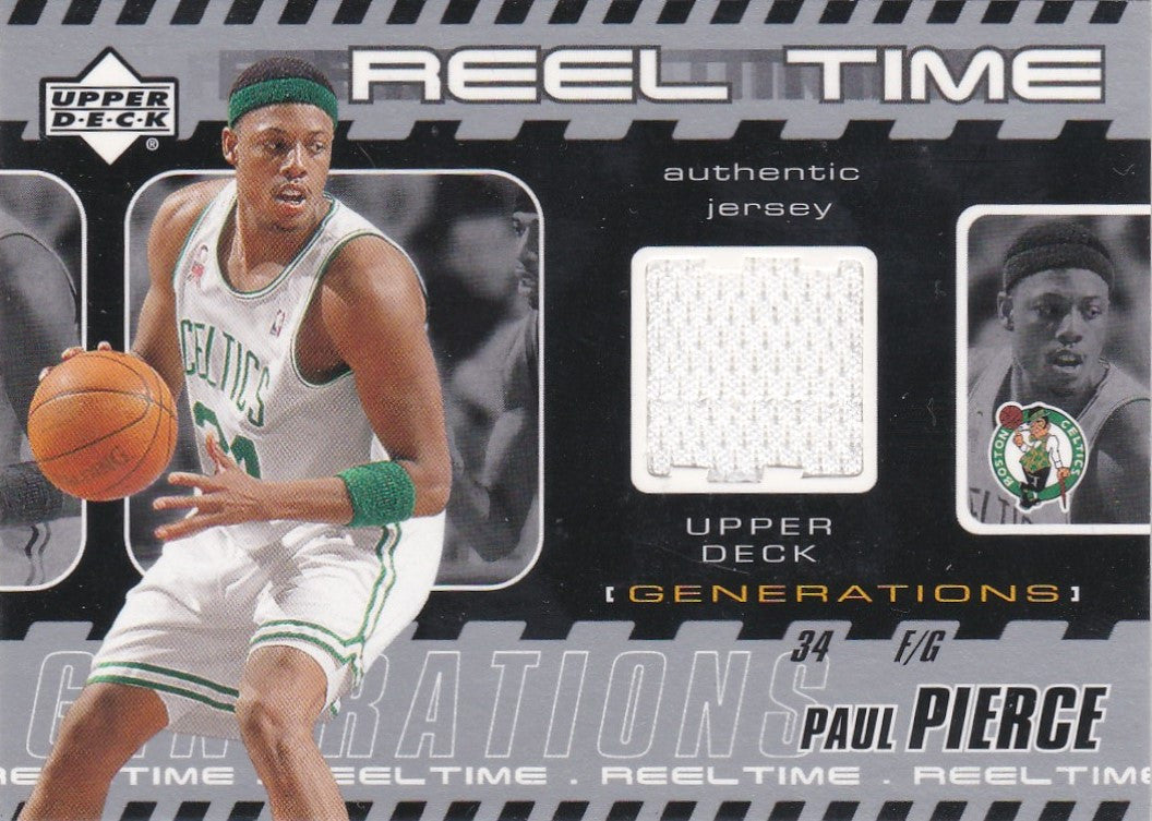 Paul Pierce, Reel Time Jersey, 2002 UD Generations Basketball