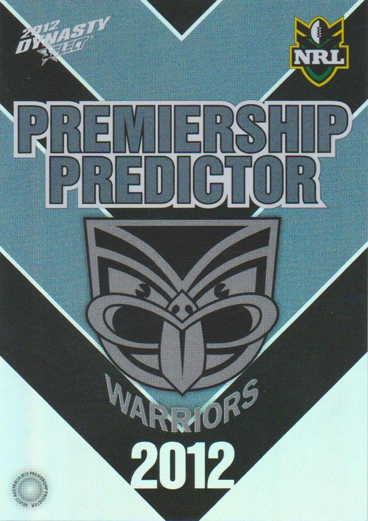 Warriors, Premiership Predictor, 2012 Select NRL Dynasty