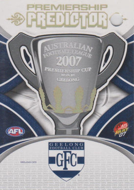 Geelong Cats Premiership Redemption Set including Hawkins Rookie, 2007 Select AFL
