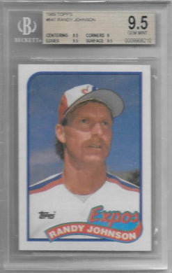 Randy Johnson, RC, 1989 Topps, BGS 9.5