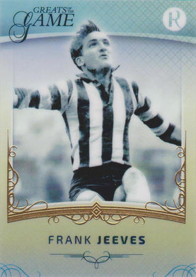 Frank Jeeves, Gold Parallel, 2017 Regal Football Greats of the Game