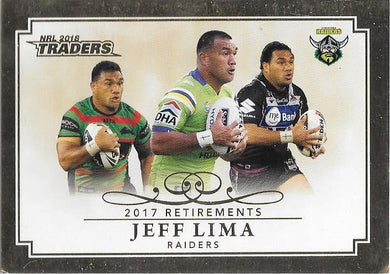 Jeff Lima, Retirements, 2018 ESP Traders NRL