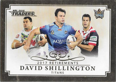 David Shillington, Retirements, 2018 ESP Traders NRL