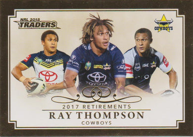 Ray Thompson, Retirements, 2018 ESP Traders NRL