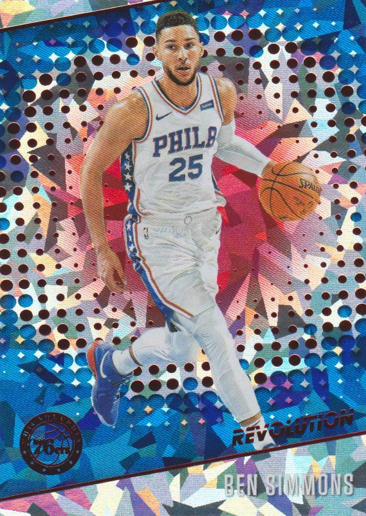 Ben Simmons, Chinese New Year Cracked Ice, 2017-18 Panini Revolution Basketball