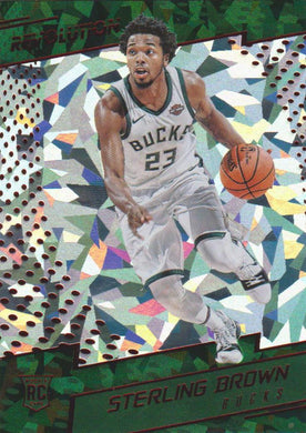 Sterling Brown RC, Chinese New Year Cracked Ice, 2017-18 Panini Revolution Basketball