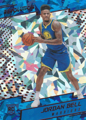 Jordan Bell RC, Chinese New Year Cracked Ice, 2017-18 Panini Revolution Basketball