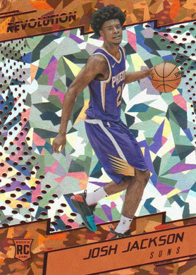 Josh Jackson RC, Chinese New Year Cracked Ice, 2017-18 Panini Revolution Basketball