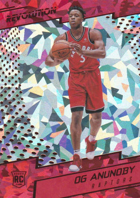 Og Anunoby RC, Chinese New Year Cracked Ice, 2017-18 Panini Revolution Basketball